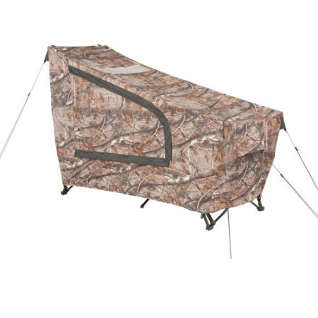 Instant-Tent-Cot-with-Realtree-AP-Camo-Rainfly-Sleeps-1-Multicolor