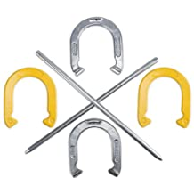 Crown Sporting Goods Professional Steel Horseshoe Set with Carrying Case