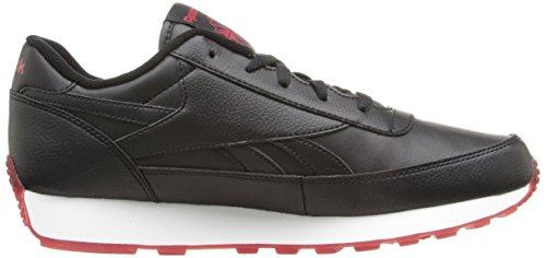 Reebok Mens Classic Renaissance Ice Fashion Sneaker Nero / Ottimo Rosso