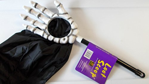 Bday Parties Loot Scoop Halloween Candy Skeleton Hand Bag