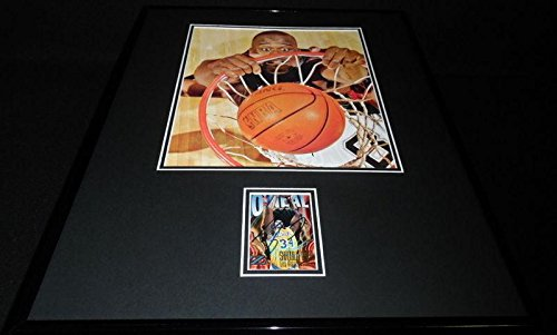 Shaquille O'Neal Signed Framed 16x20 DUNK Photo Display Heat Lakers Celtics LSU - Autographed NBA Photos