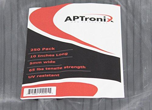 250 Premium Heavy Duty 10 Inch Zip Ties | Black Nylon Cable Ties | XGS Wire Ties by APTronix (10 Inch, Black) by APTronix (Image #5)