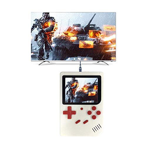Ourhomer  Clearance Sale Retro Handheld Game Console Mini Handheld Video Game Console Built-in 500 Classic Games (White)