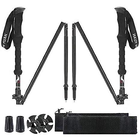733b3f98c2d9 Amazon.com   XinZHiYuAy Collapsible Trekking Pole Adjustable ...