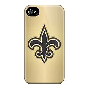 Durable Cell-phone Hard Cover For Iphone 4/4s With Customized Realistic New Orleans Saints Skin JasonPelletier