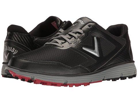 Callaway Men's Balboa Vent Golf Shoe, Black/Grey, 9 D US