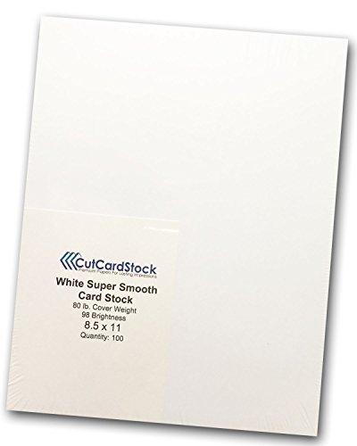 Discount Paper - Premium White 80lb Super Smooth 8.5x11