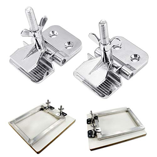 (INTBUYING 2 pc of Screen Frame Butterfly Hinge Clamp for Silk Screen Printing Sturdy)