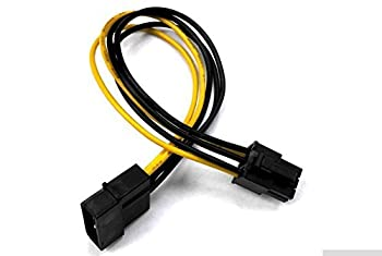 "AYA 7"" Molex to PCI Express 6-Pin Graphics Card Power Cable Converter"
