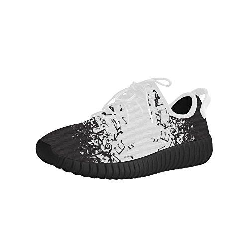 D-story Naadloze Muzieknoot Grus Mens Boost Schoenen Boost Sneakers Energy Bounce Ademende Geweven Hardloopschoenen Voor Heren