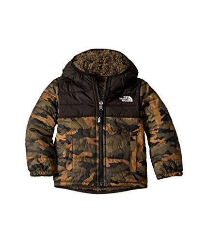 Logo Print Khaki - The North Face Kids Baby Boy's Reversible Mount Chimborazo Hoodie (Toddler) British Khaki Mini Waxed Camo Print 4T
