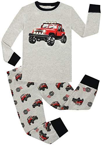 Christmas Boys Pajamas Set 2 Piece 100% Car Cotton Clothes Toddler PJS Kids Sleepwear