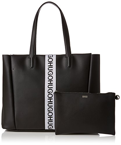 HUGO Kingston Small Tote - Borse a spalla Donna, Nero (Black), 13x29x44 cm (B x H T)