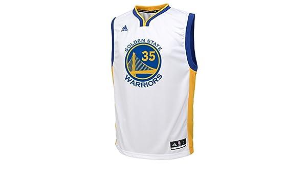 Adidas Kevin Durant Golden State Warriors # 35 NBA Juventud réplica Camiseta Blanco, Blanco: Amazon.es: Deportes y aire libre