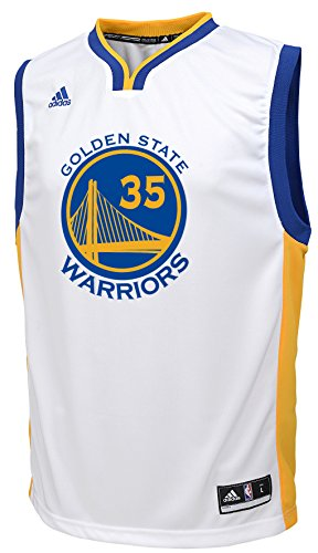 Adidas Kevin Durant Golden State Warriors #35 NBA Youth Replica Home Jersey White (Youth Small (8 Home Replica Jersey)