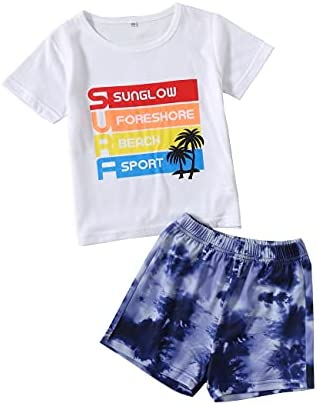 Toddler Baby Boy Clothes Summer Outfits Infant Boys Cute Short Sleeve Top Shorts Newborn Clothing Set 2Pcs