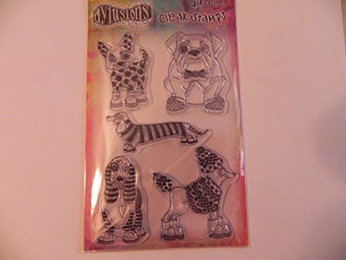 Dylusions Clear Stamps, Puppy Dog Tails