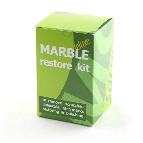 Marble Restore kit Deluxe to Renew The polishing of Natural Stone Ruined by Etch Marks, Scratches or limescale; Packaging 100 gr of Powder polishing ()