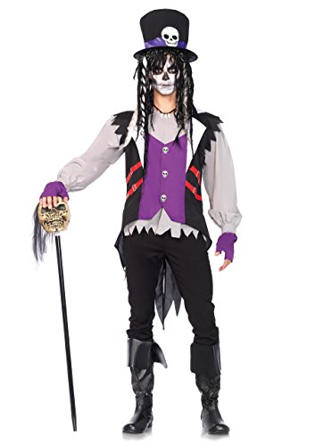 Leg Avenue Men's 5 Piece Voodoo Priest Costume, Multi, Medium/Large ()
