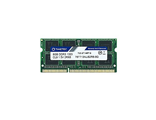 Mitac Pc Laptops (Timetec Hynix IC 8GB DDR3 1333MHz PC3-10600 Non ECC Unbuffered 1.5V CL9 2Rx8 Dual Rank 204 Pin SODIMM Laptop Notebook Computer Memory Ram Module Upgrade(8GB))