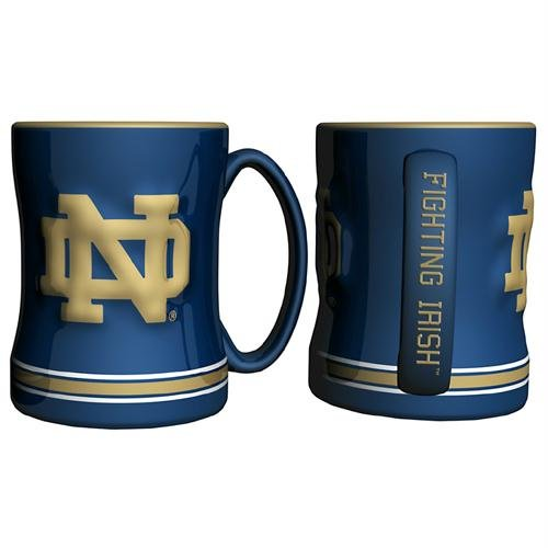 IFS - Notre Dame Fighting Irish NCAA Coffee Mug - 15oz Sculpted (Single Mug)