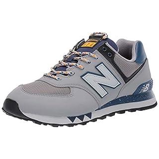 New Balance Men's 574 V2 Sneaker, Steel/Moroccan Tile, 4 W US