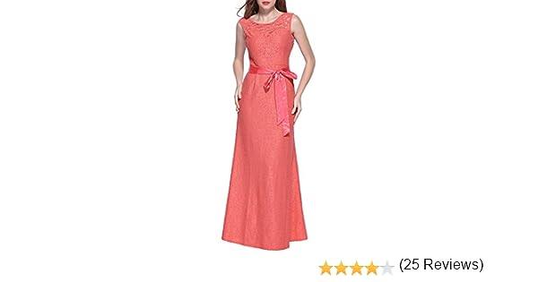 Miusol - Vestido - Noche - para mujer Rosa 38 40 42 44 46 48 50: Amazon.es: Ropa y accesorios
