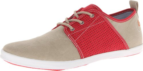 Gbx Hombres Soho Eyelet Sneakers Natural / Red
