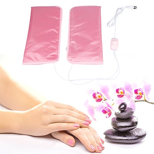 Electric Heated Beauty Hand Mitts, Professional Heated Paraffin Wax SPA Treatment Hand Care Mittens and Foot Care Podotheca (Mittens) (Spa Mitts)