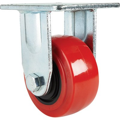 Ironton Standard-Duty 4in. Rigid Polyurethane Caster - 550-Lb. Capacity, Red by Ironton