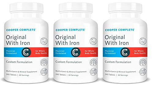 Cooper Complete – Original Multivitamin with Iron – Daily Multivitamin and Mineral Supplement – 90 Day Supply