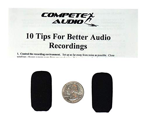 Compete Audio LS35 replacement foam microphone windscreen (microphone cover) (2-pack) for use with Lightspeed headsets