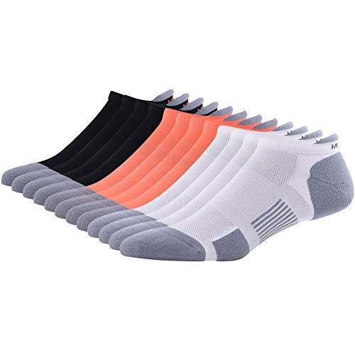 No Blister Running Socks MEIKAN Men's Women's High Performance Dry Fit Cushioned Athletic Tab Socks for Running Gear 6 Pairs (Multicolor)