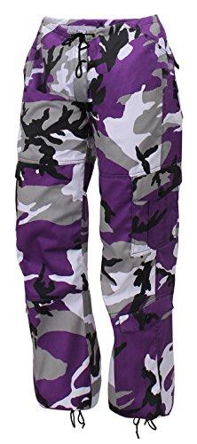 Rothco Womens Paratrooper Colored Camo Fatigues, XXS, Ultra Violet Camo