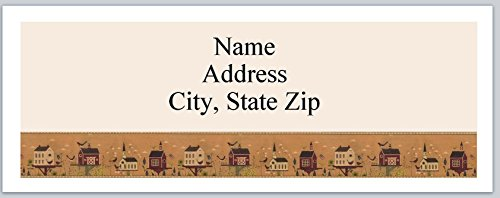 (120 Personalized Address labels Primitive Country Birdhouses (P 357))
