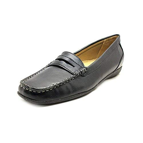 (Trotters Womens Francie Closed Toe Loafers, Black, Size 6.5)