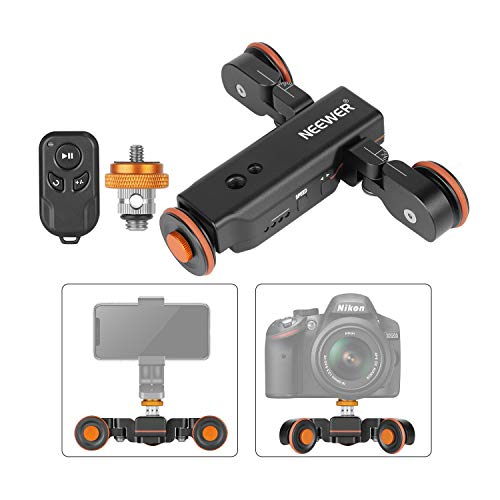 Neewer 3-Wheels Wirelesss Camera Video Auto Dolly,Motorized