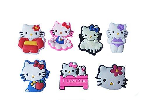 AVIRGO 7 pcs Shoe Charms Set # 125 - (Maru The Cat Costume)