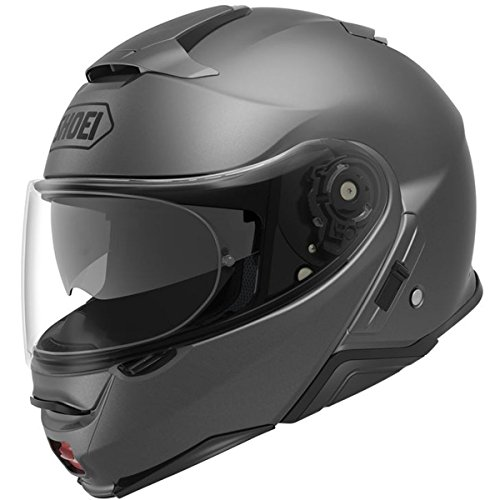 Shoei Solid Neotec 2 Modular Motorcycle Helmet - Matte Deep Grey/Medium