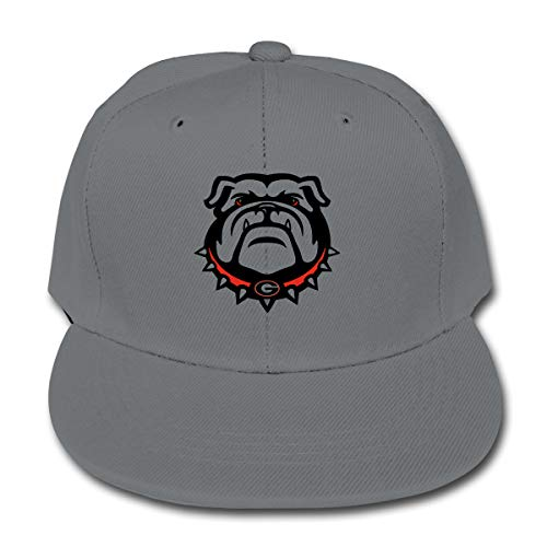 LWOSD Child Baseball Hat, Georgia Bulldogs Plain Cotton Baseball Cap Sun Protect Ajustable Hats for Boys Girls Gray