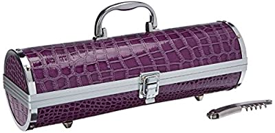 Primeware Gala Wine Purse, Purple Croc