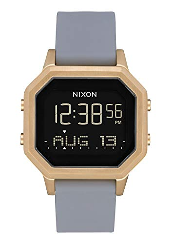 NIXON Siren SS A1212 - Light Gold/Gray - 101M Water Resistant Women's Digital Sport Watch (36mm Watch Face, 18mm-16mm Stainless Steel Band) ()