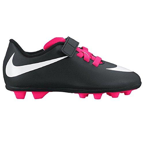 Nike Junior Bravata Firma-jord Fodbold Klampen Sort / Hvid / Pink 8OGysNgc