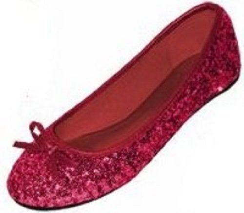 New Womens Sequins Ballerina Ballet Flats Shoes 4 Colors Available (11, Ruby Sequins -