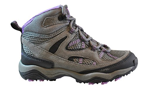 Image of Gander Mountain Girls' Trail Climber Explorer Mid Hiker Shoes, Grey/Purple, 13