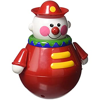 Amazon Com Tolo Toys Roly Poly Chiming Clown 6 Inch