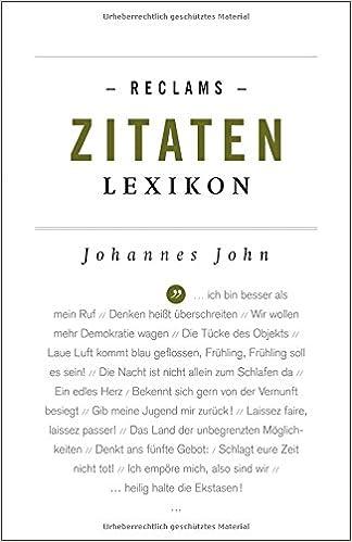 Reclams Zitaten Lexikon Reclams Universal Bibliothek Amazonde