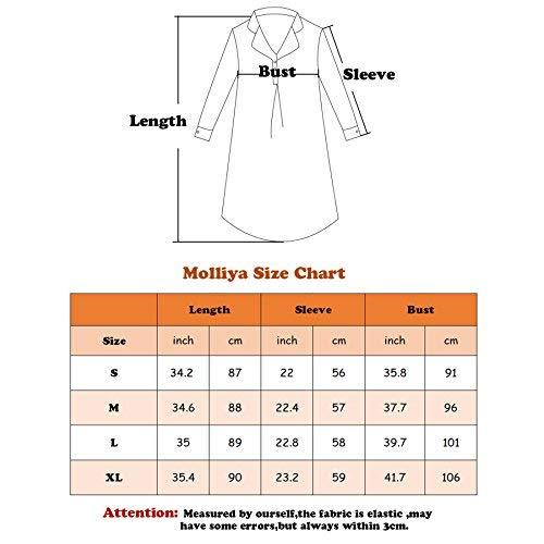 Dance Fairy Molliya Women's Maternity Dress Stripes Nursing Nightgown Breastfeeding,Lapel Collar Pajamas (Gray, M) by Dance Fairy (Image #6)