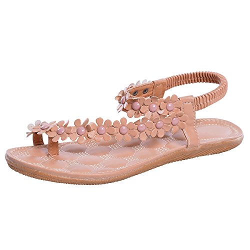 c339fabed321 JACKY LUYI Sweet Flower Thong Sandals US 7.5 Pink (B00LGBMCRG ...