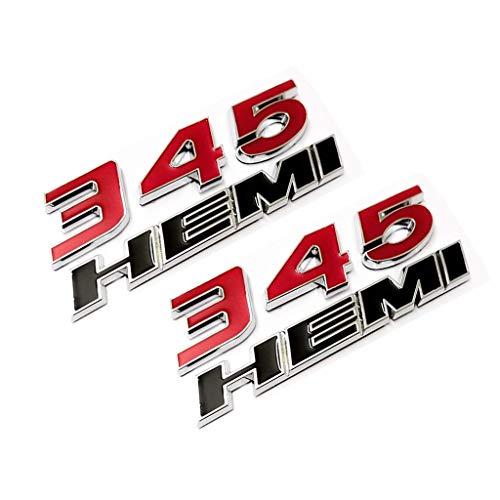 2pcs OEM 300C HEMI Trunk Emblem Badges decal 3D logo Replacement for 300 C Challenger Chrysler Black QUK